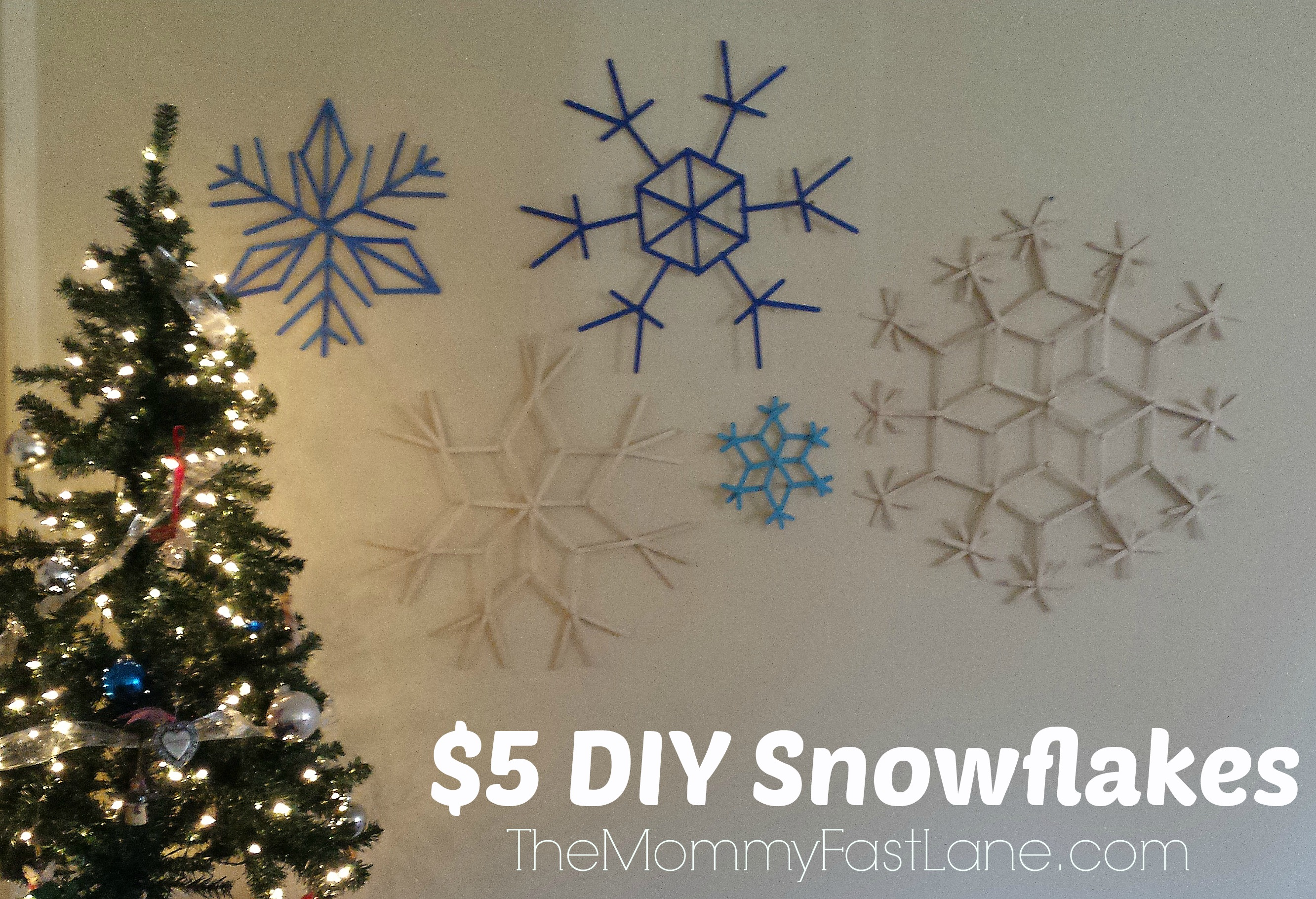 Diy the mommy fast lane 5 christmas diy decor dec15 snowflakes solutioingenieria Images